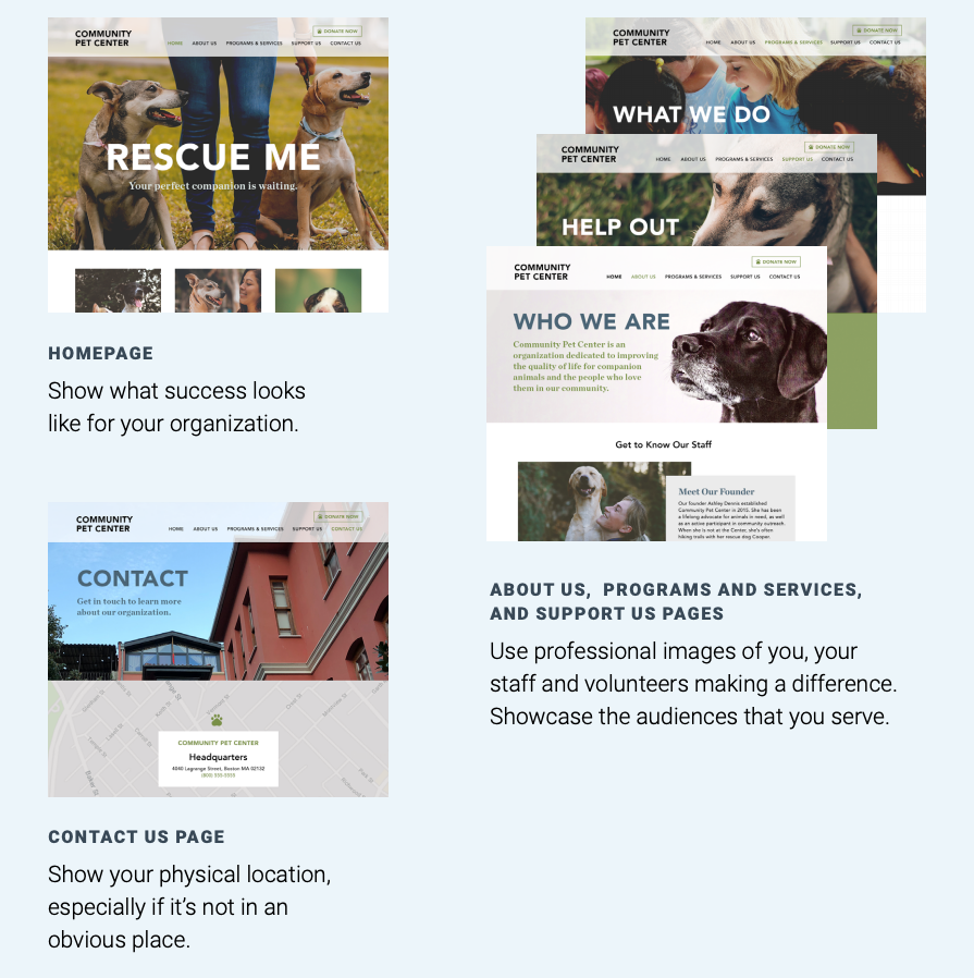 Tips for using images on nonprofit website