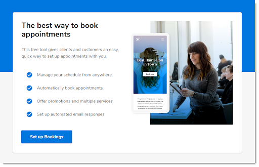 Constant Contact bookings tool