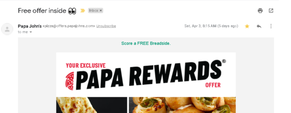 retail subject lines that promise with an email that delivers are always a good combination
