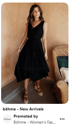 promoted pin of a dress