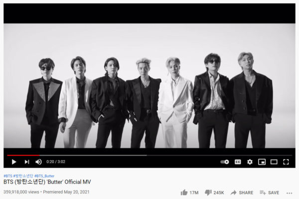 creating and posting a music video, like this one from BTS is one of the best ways to promote your band