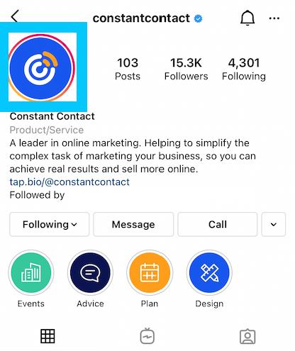 Instagram profile picture size