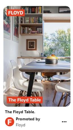 Floyd shoppable pin for their Floyd Table