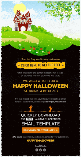 newsletter ideas -- Halloween themed email template