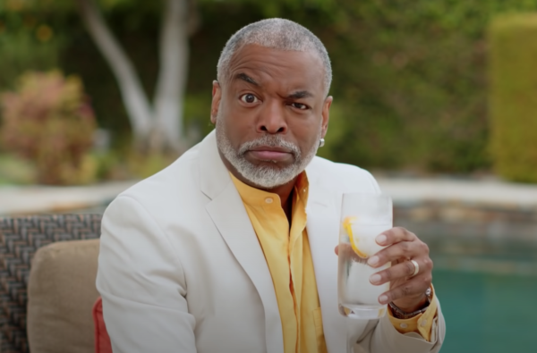 Ethos is the primary persuasive technique in advertising used in this Aviation Gin ad by LeVar Burton
