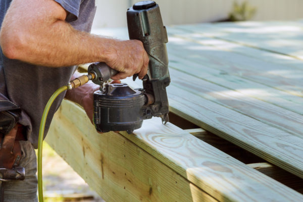 How to start a deck building business - make sure you have a list of your tools like this pneumatic staple gun