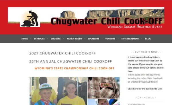 Chug Water Chili Cook-off homepage