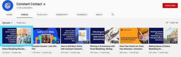 YouTube video thumbnail size
