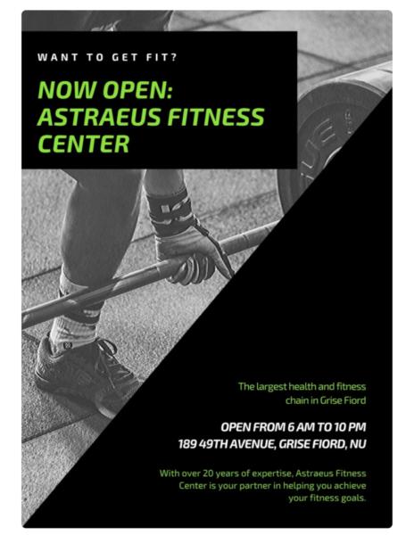 new business open flyer
