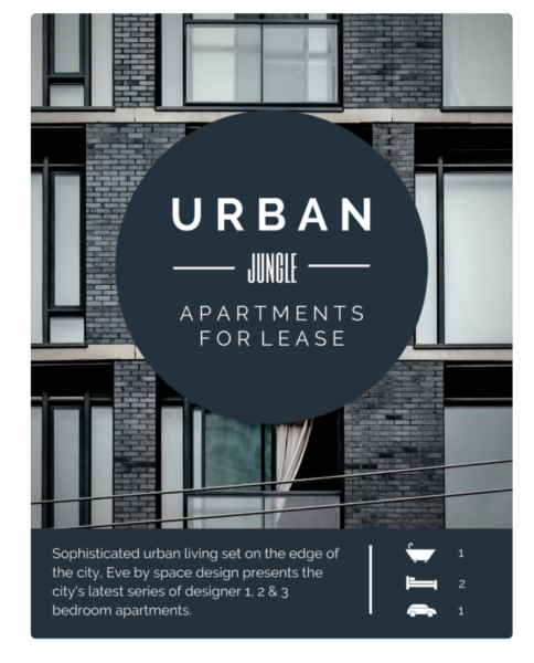 apartment leasing flyer