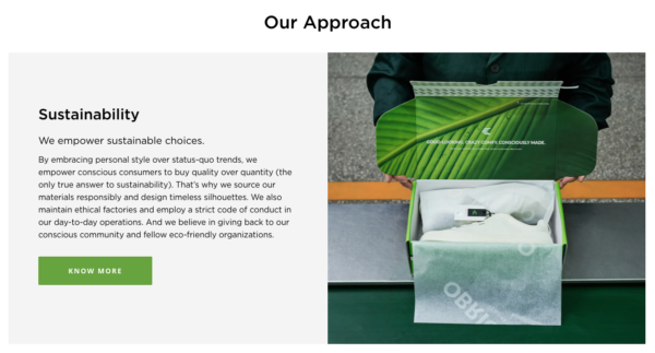 How to Get Sales on Shopify- point out what you're doing different like Cariuma's webpage explaining their approach to sustainability