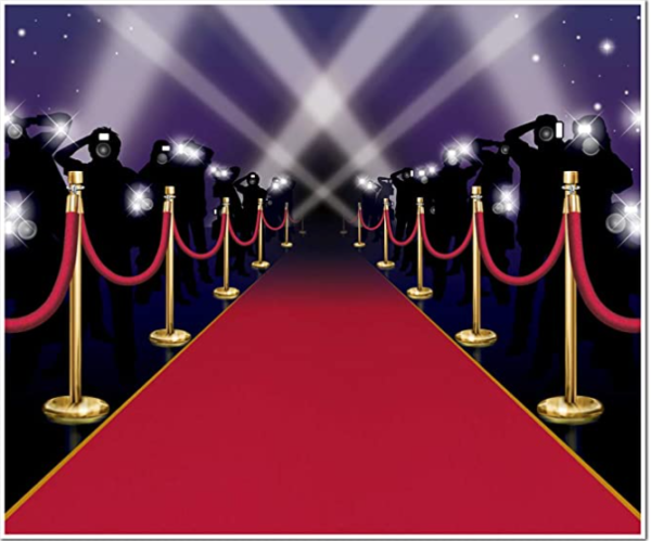 Amazon red carpet backdrop for a selfie station