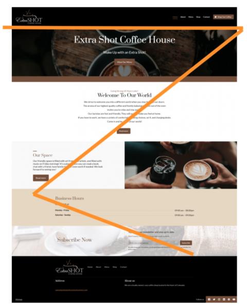 example of website design principle - Z layout
