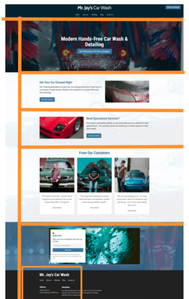 example of website design principle - F layout