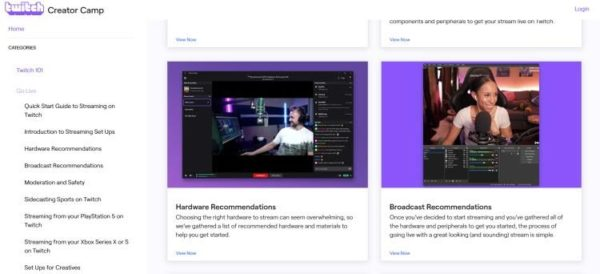 twitch recommendation screenshot