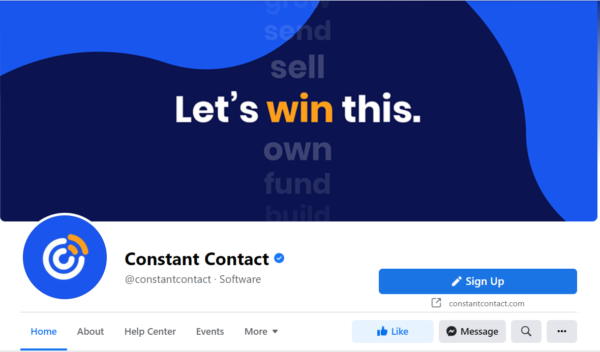 Constant Contact's Facebook page