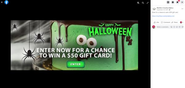 Halloween contest promotion idea