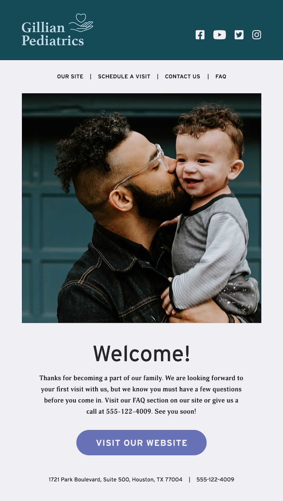 Automated welcome email #1, welcome and deliver