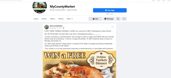 Thanksgiving giveaway ideas