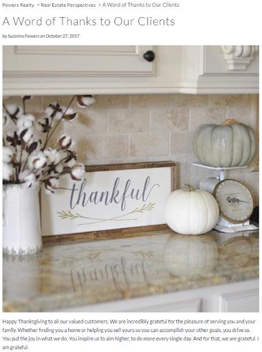 Thanksgiving real estate