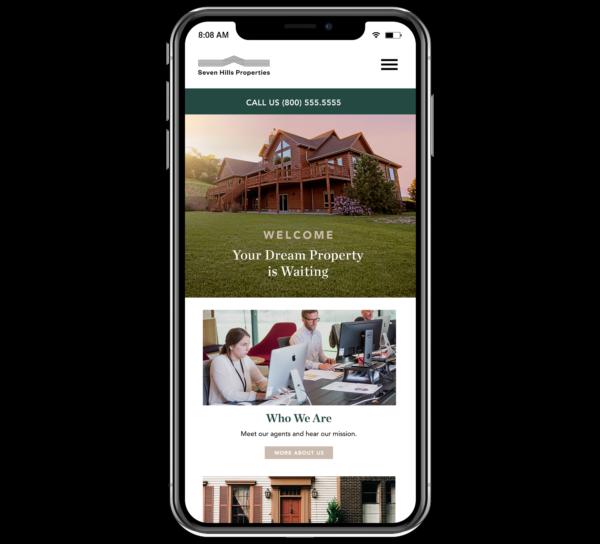 Great real estate website design is mobile-responsive