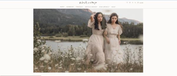 Adored Vintage's homepage