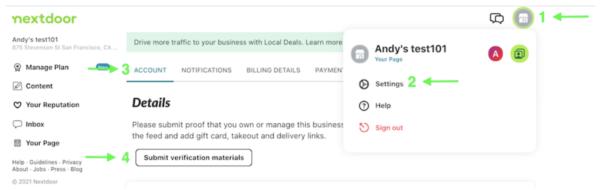 screenshot of verifying an account on Nextdoor